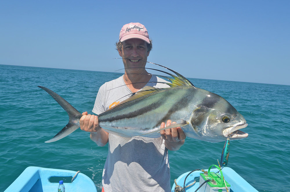 Rooster Fish Caught with Live Bait, Mal Pais!