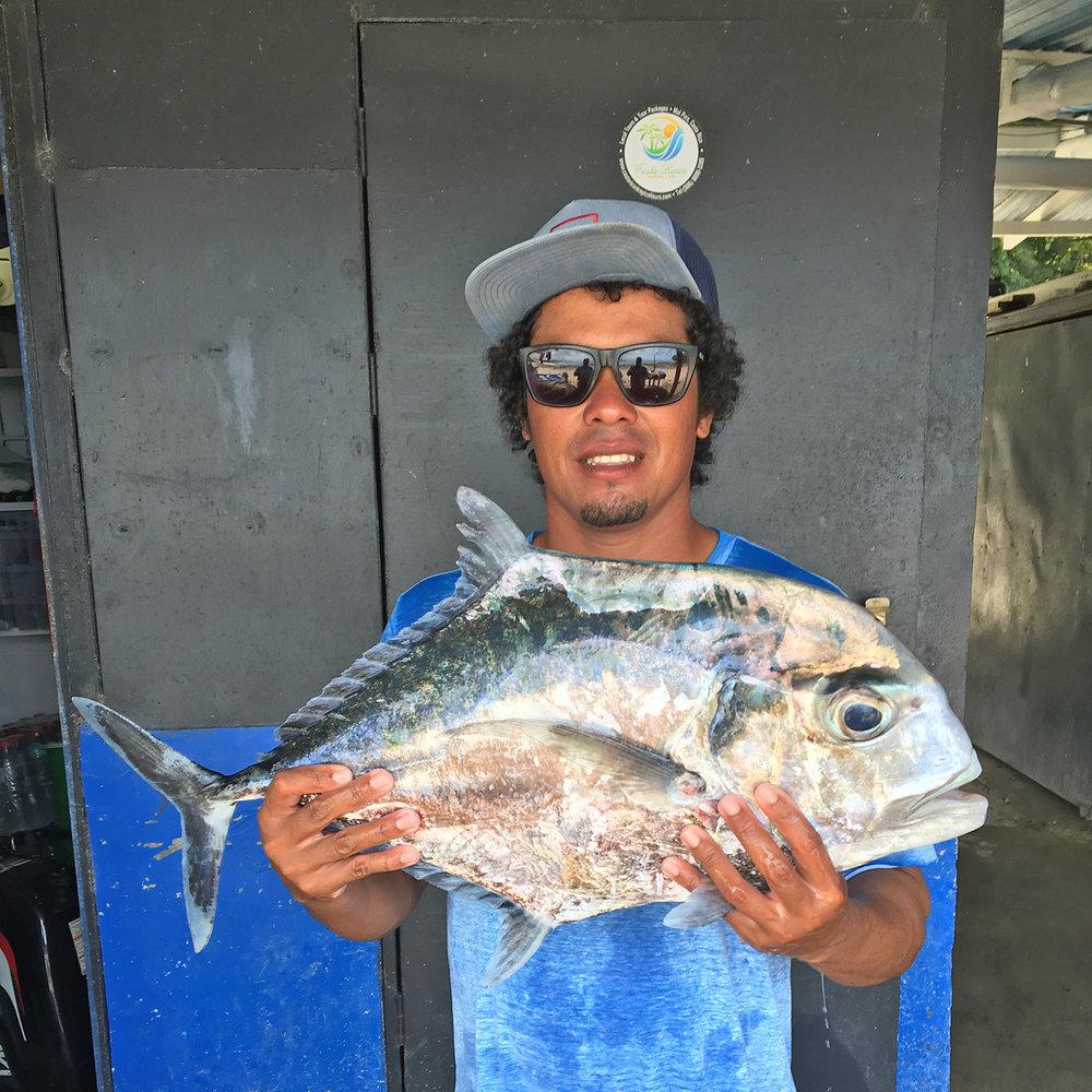 Pompano Fishing, Santa Teresa Costa Rica