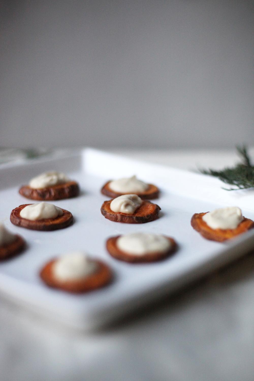 Simple sweet potato canapes m o d e l m a n g e t o u t for Sweet canape ideas
