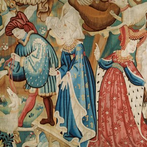 Detail from the  The Devonshire Hunting Tapestries , Victoria and Albert Museum,  Museum no. T.204-1957. c.   1425-30.