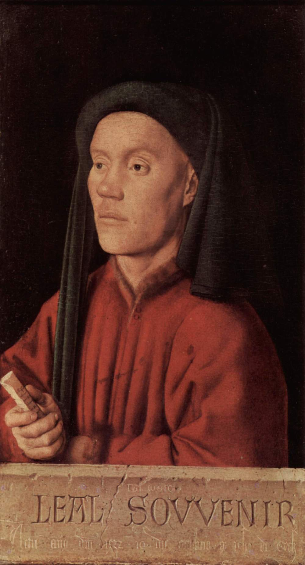 Jan can Eyck.  Portrait of a Man  ,  1432. National Gallery, London