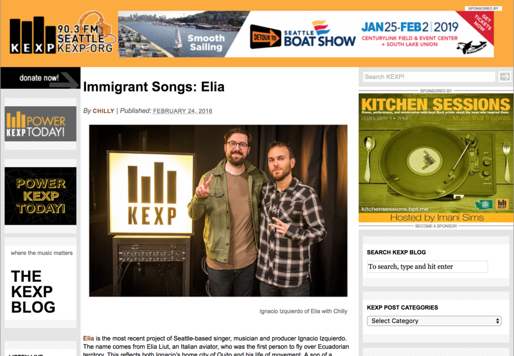 KEXP - An honor to be part of KEXP's