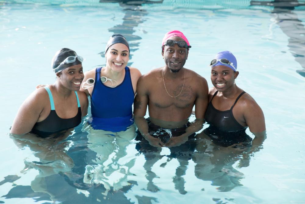 Adults small group swim class