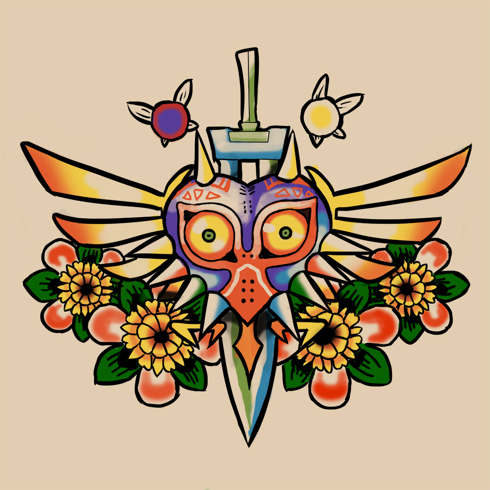 Majora's Mask tattoo commission