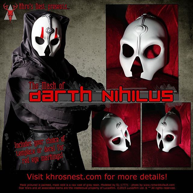 Darth Nihilus masks are for sale! Go to www.khrosnest.com/darth-nihilus-mask for details and purchasing. 💀 #darthnihilus #nihilus #mask #sith #sithlord #darkside #darksideoftheforce #kotor #cotf #knightsoftheoldrepublic #darth #skull