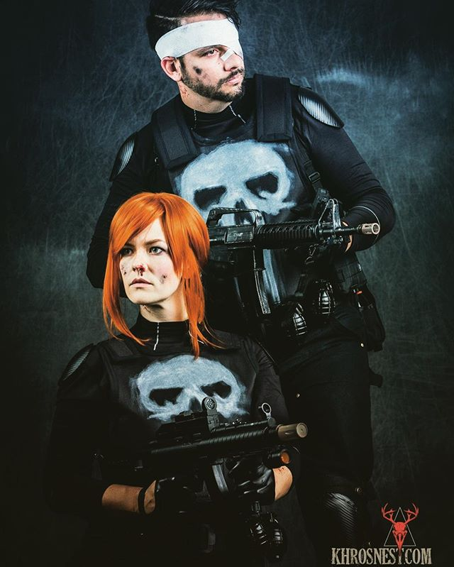 We will be in our Punisher and Rachel Cole-Alves cosplays today at #MontrealComiccon 💀 Come say hi if you see us - we are a lot friendlier than we look! #Punisher #RachelColeAlves photo by @richarddufault - @mtlcomiccon #rachelalves #frankcastle #cosplay #specops #skull #costume #gun #justice #badass #montreal #comiccon #mcc #mcc2016 #mtlcomiccon #montrealcomiccon2016