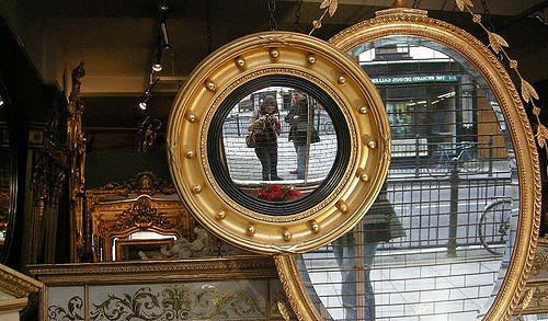 """Mirrors in London, UK"" by  desmeki  is licensed under  CC BY 2.0  - no changes made"