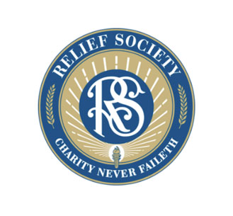 "The Relief Society's motto is ""Charity never faileth"" (  1 Corinthians 13:8  ). Click the logo for more information."