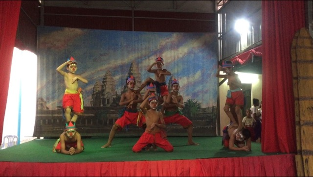 The children are excellent performers of traditional Khmer dances. This is the monkey dance.