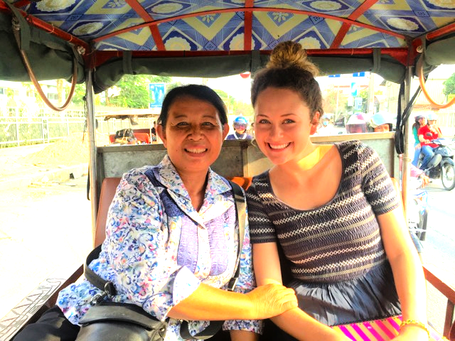 Jessica with Botevy Keo, the founder and director of CICFO. She is a survivor of the Khmer Rouge era in Cambodia and joined the church over a decade ago.