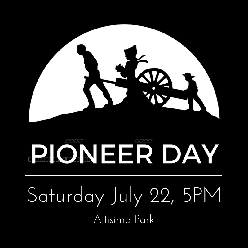 pioneer day 3rd saturday in may join us for a small town spring time celebration there will be booths setup around city hall where food and drink, hand-made arts, crafts, home goods, jewelry, clothing, signs, knives, baked goods and jerky will be on sale.
