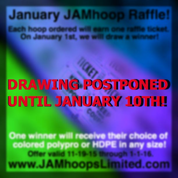 DRAWING POSTPONED UNTIL 1-10-16 to ensure everyone has received their tickets in the mail with their order!