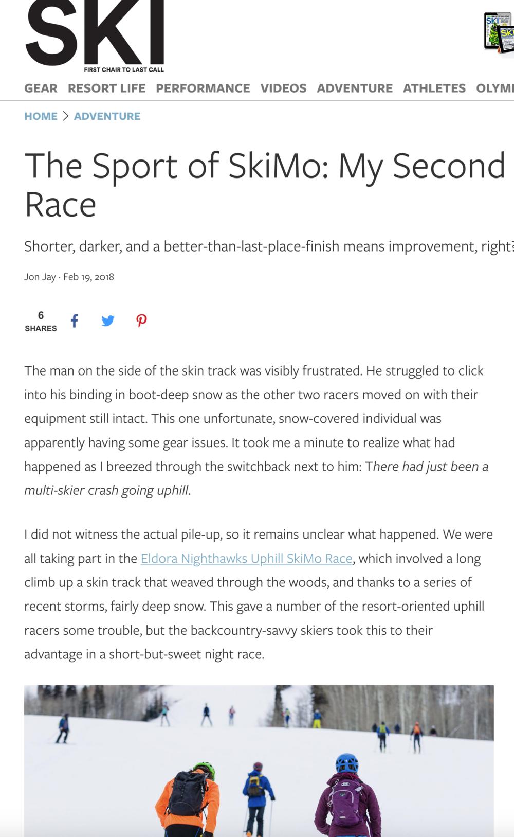 Ski Magazine Skimo Race 2