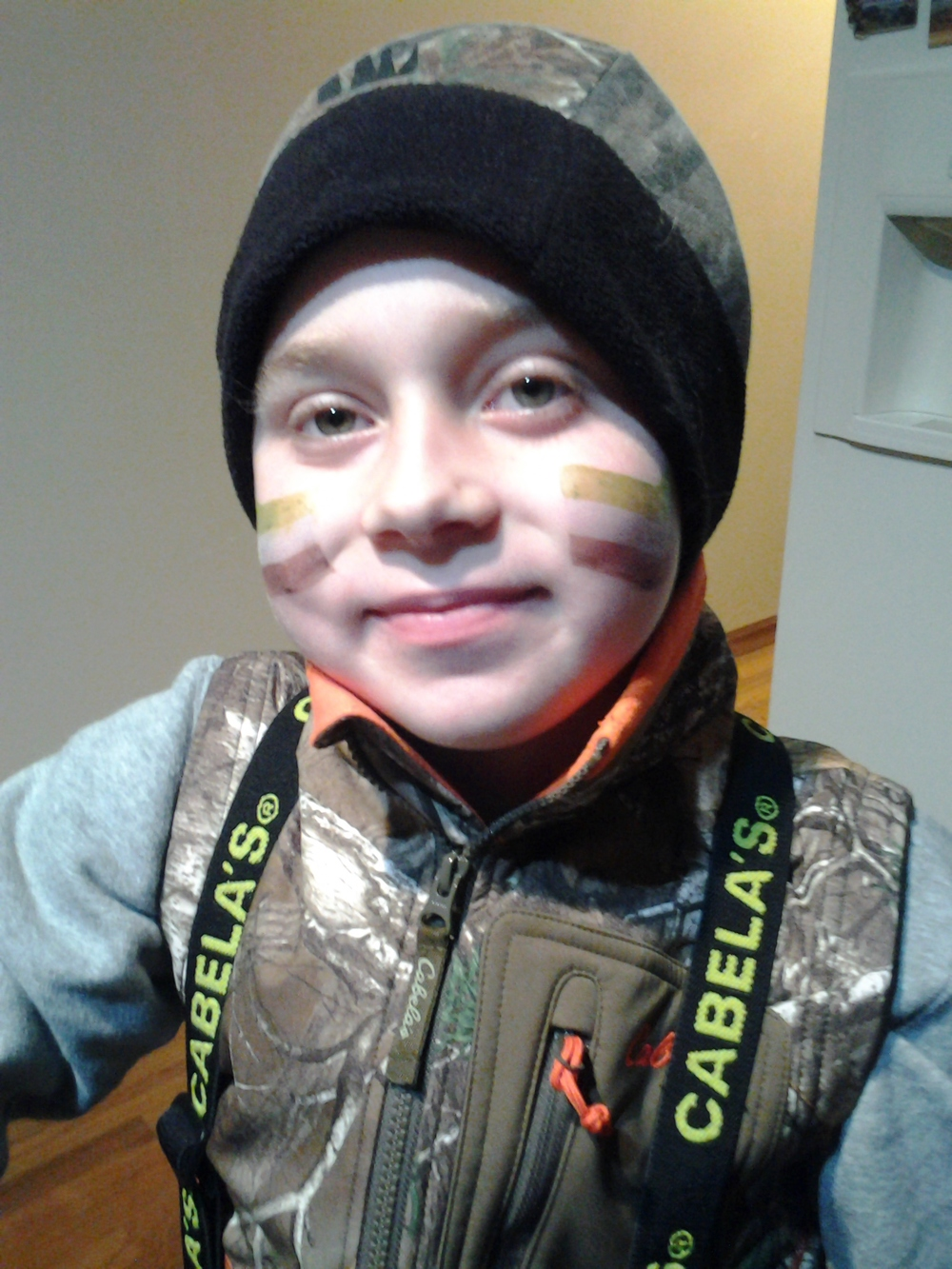 Getting read for his first Deer Hunt in 2014 at Maumee Bay State Park with the Wheeling Sportsmens Club.