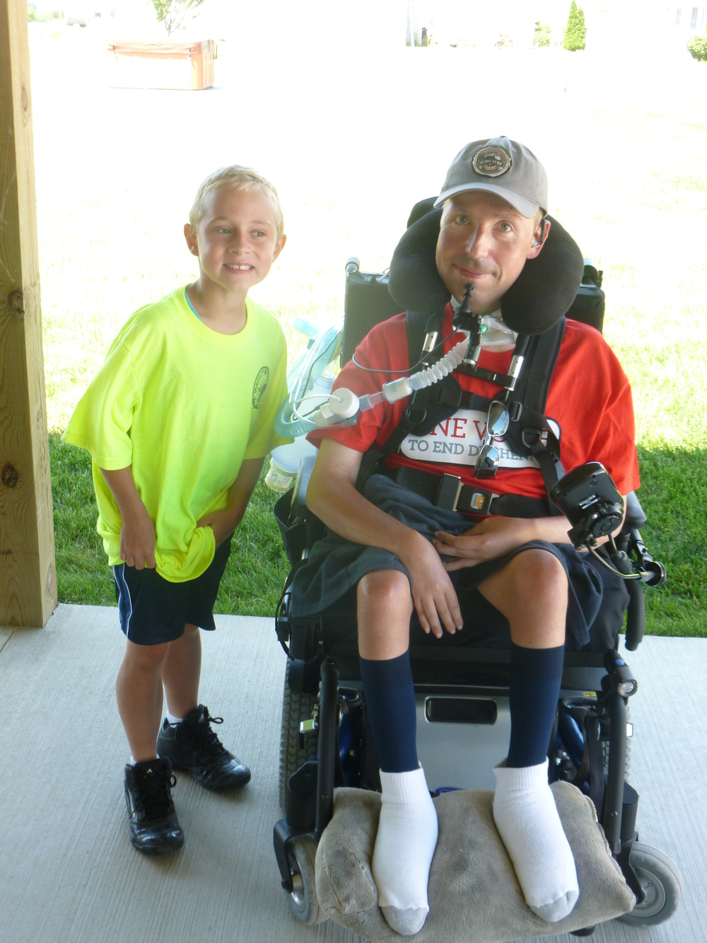 Braedan and Tom Sulfaro Jett Ride 2013   Tom Sulfaro also has Duchenne. He is one of the oldest survivors in the US and a true inspiration to our family. Him and his family are our family!
