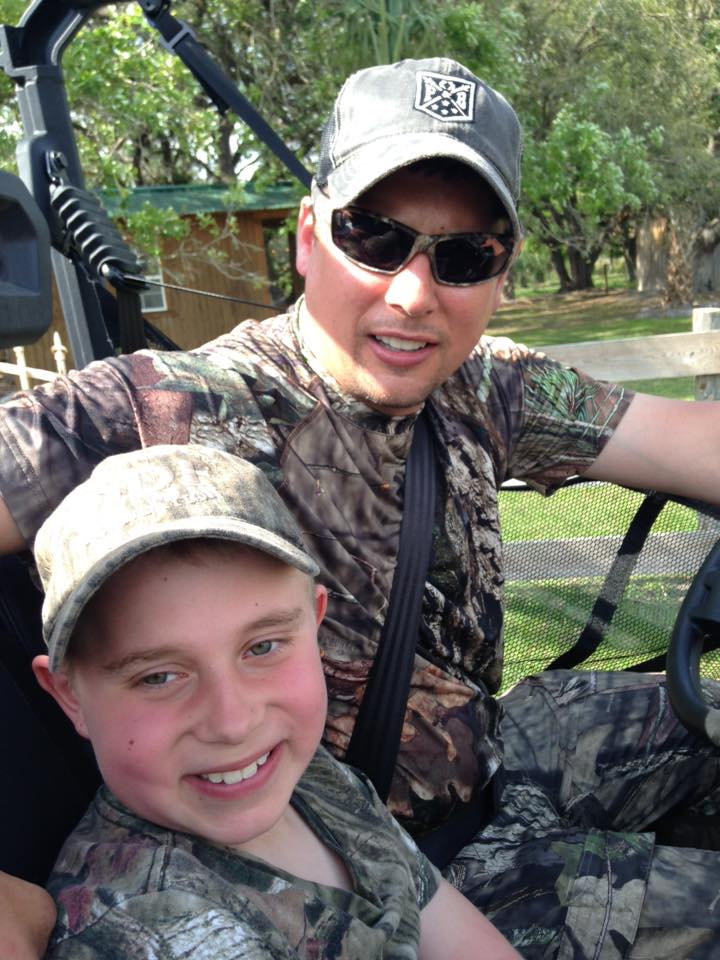 "Braedan and BIlly ""Catfish"" Parker clowning around while gator hunting in March 2016. Braedan and Billy are so much fun together."