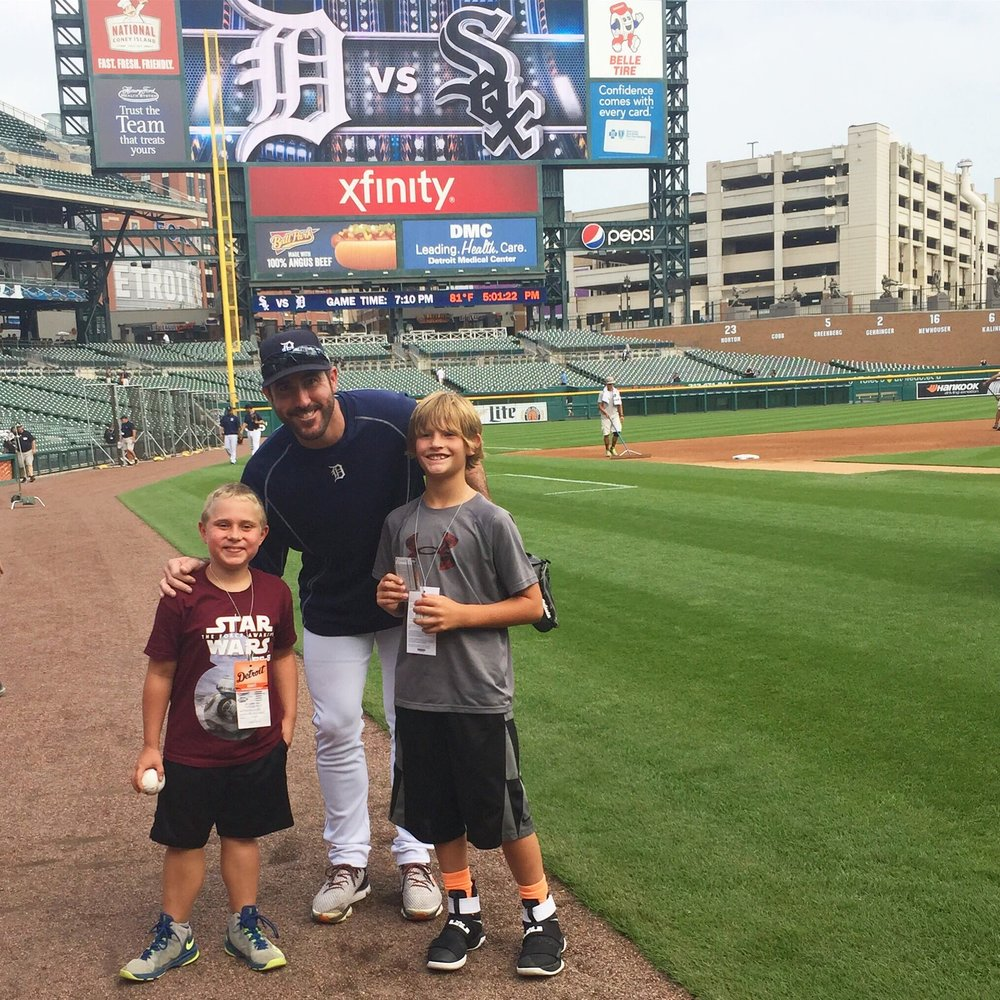 Hanging out with the Detroit Tigers