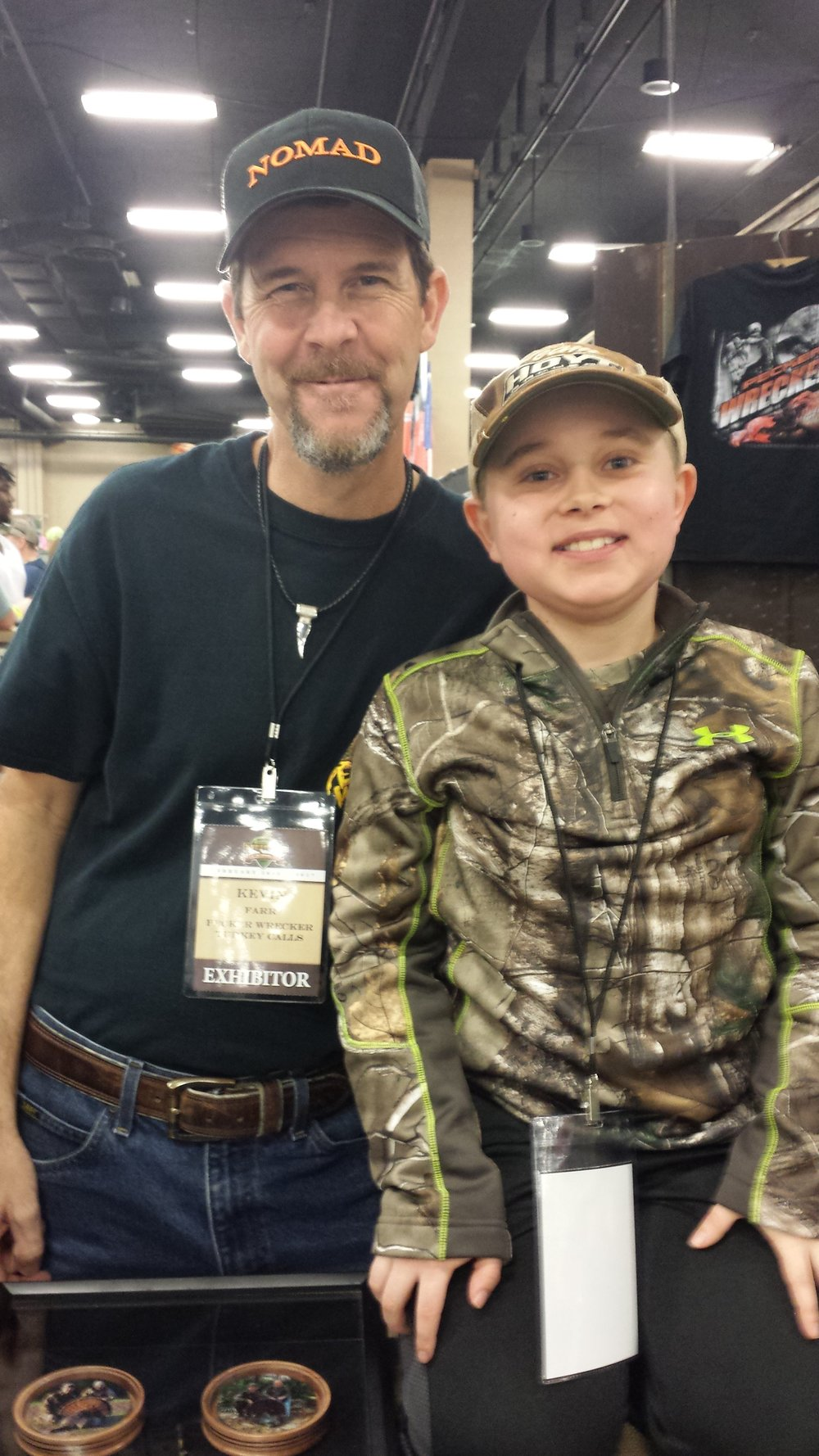 Braedan and Kevin Farr, CEO of Pecker Wrecker Turkey Calls. Braedan can attest to his calls. They are like nothing else!