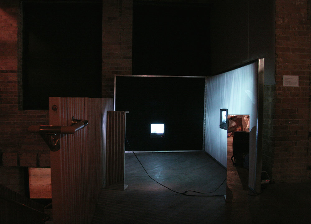 Installation view of  Entrainment Loop,  2018 by Kristina Banera for Forthwith Festival 2018 at Forth, Winnipeg, MB.