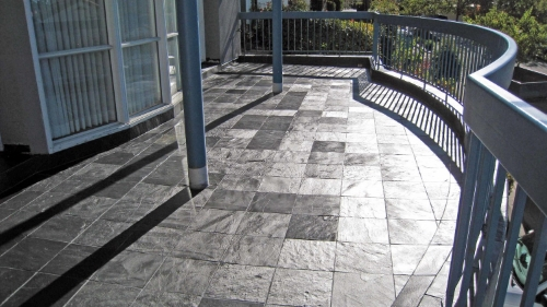 slippery outdoor tile floor non-slip floor treatment