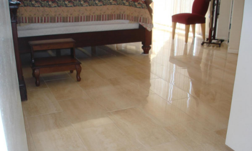 slippery porcelain tiles floor treatment