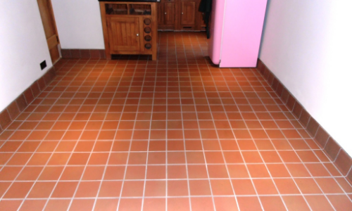 slippery quarry tile floor