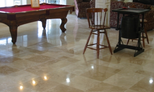 slippery polished tile floor treatment