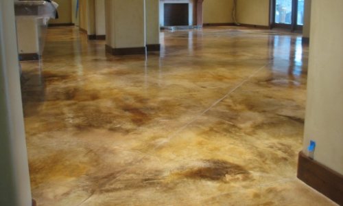 slippery stained concrete floor coating treatment