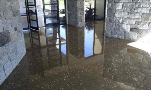 slippery polished concrete floor coating treatment