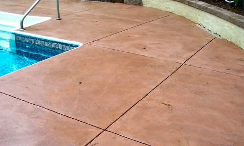 slippery colored concrete coating treatment paint