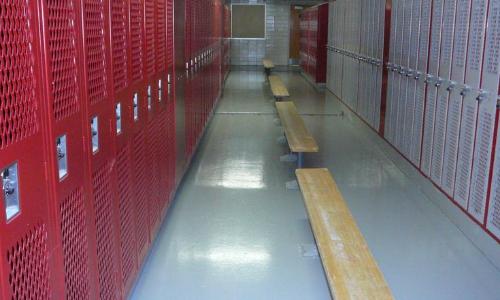 locker room non-slip floor treatment