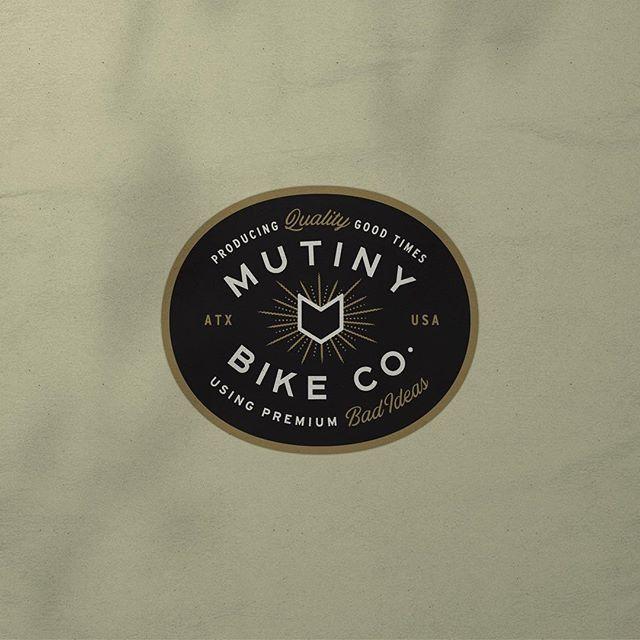 Logo for @mutinybikes designed here at @truehandsociety. Item designed here at @truehandsociety for @mutinybikes .  #truehanddesign . #truehand #jessiejaydesign #jessiejay#jessiejaydesign #designedbyjessiejay#typography #phl #philly #philadelphia#branding #illustrator #typelockup