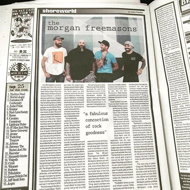 "Congrats to the @themorganfreemasons for the sweet write up about their new record at @theaquarianweekly ! ""There's a blurb about me in there. A blurb?! Youre a blurb check out the cover idiot"" #exeterrecordings #rocknroll #recordingstudio#recording #audio #music #musician #musicians#studiolife #rock #drums #singer #guitar #bands#indierock #drummer #guitarist #amps #bassist#artist #musicislife #sound #percussion  #indierock#oldschool #pop #life #art #punkrock #microphone"