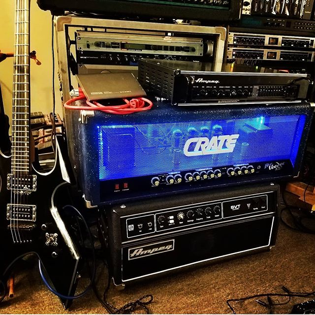 That one time I didnt hate Crate. Thanks Cannibal Corpse! Also thanks to @degrader_blackmetal for the sweet new tv set up! Goodbye old huge tv, hello playstation and finally hooked up Sega. Simmons you god. #exeterrecordings#blackmetal #ampeg #recordingstudio #recording#audio #music #musician #musicians #studiolife#metal #deathmetal#drums #guitarplayer#bass #guitar#keyboardist #massive #drummer #guitarist#groove #distortion#bands #musicislife #jamming#hardcoremusic#percussion #indierock#bassist #bassplayer
