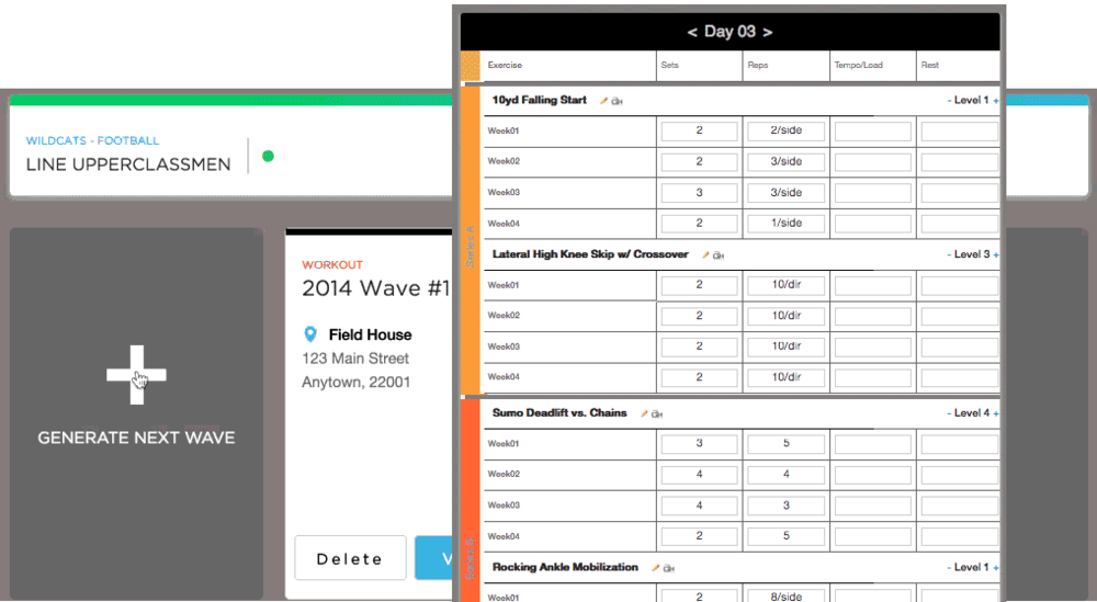 The Wave Generator outputs workouts in seconds from your pre-entered preferences