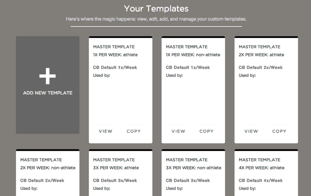 Some of the Concentric Brain Master Templates to use or customize