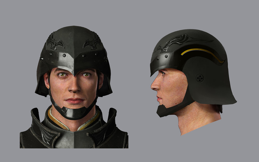 Helmet design for chocobo cavalry