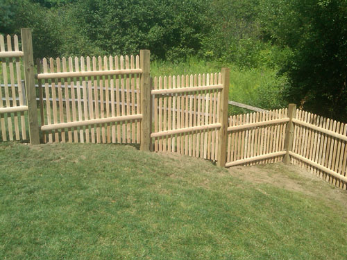 Wood Boston Hill Fence