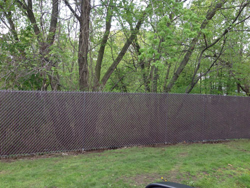 chain link fence on a hill 2