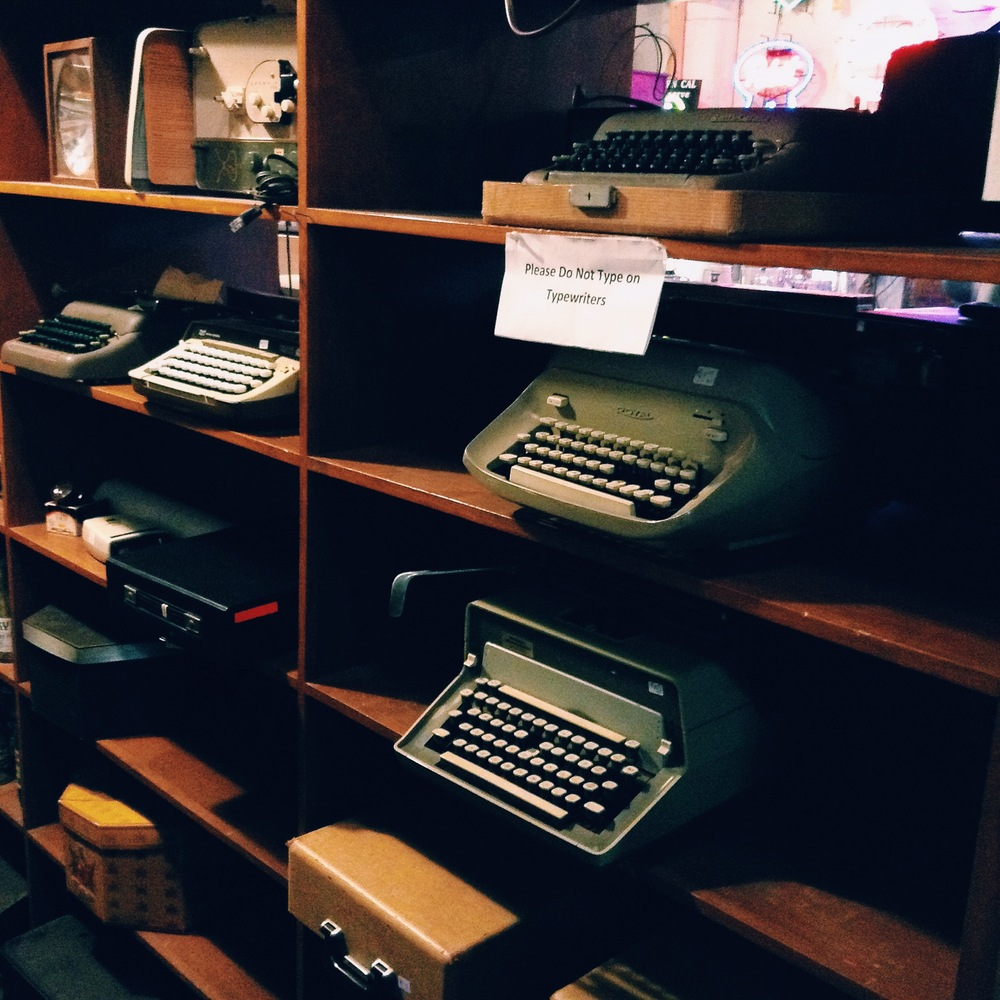 Aren't they beautiful?!  If I were to ever collect something, I think it would be typewriters.