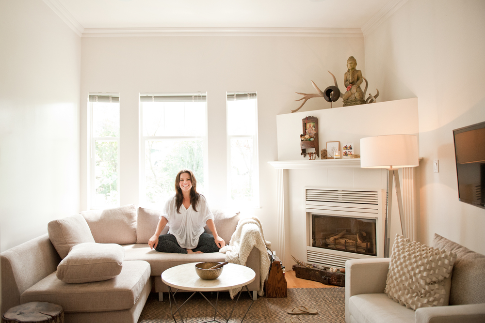 Danielle Laporte in her Vancouver home, 2013.