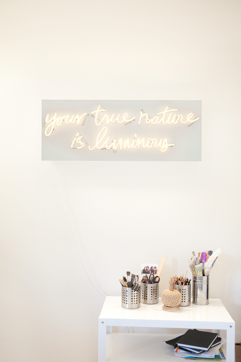 Danielle Laporte's product photography of this gorgeous neon #truthbomb, 2014.