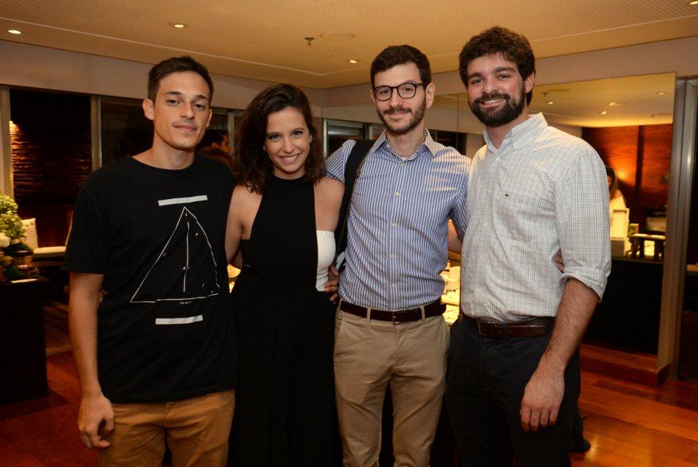 Gustavo Pontes, Rafaela Prado, Jose Sapir e Pedro Brigagao.JPG