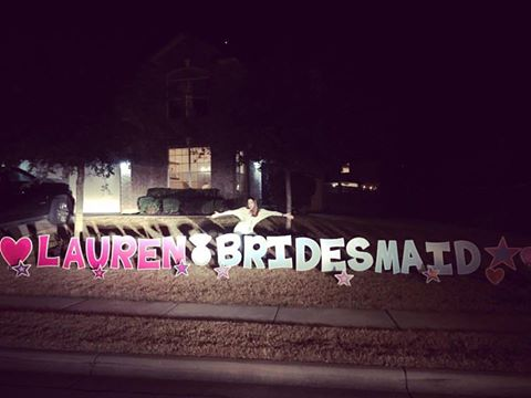 Lauren came outside and scared us as much as we scared her! Surprises all around!