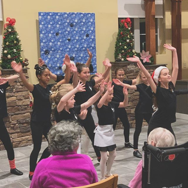 Yesterday was one of my favorite holiday traditions. My Jr VIVA Dance Company did such a wonderful job performing at a local nursing home. They weren't perfect, but the smiles on the residents's faces were priceless. One even got up to show off her dancing skills!! Thank you, lovebugs!! You make me proud. (PS Had to repost bc IG didn't load two of the photos before)