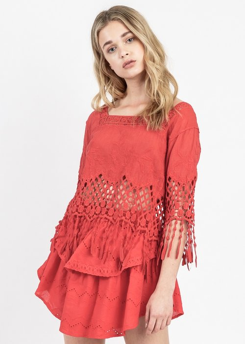 Allison Fringe Crochet Top Rah Rah Nyc