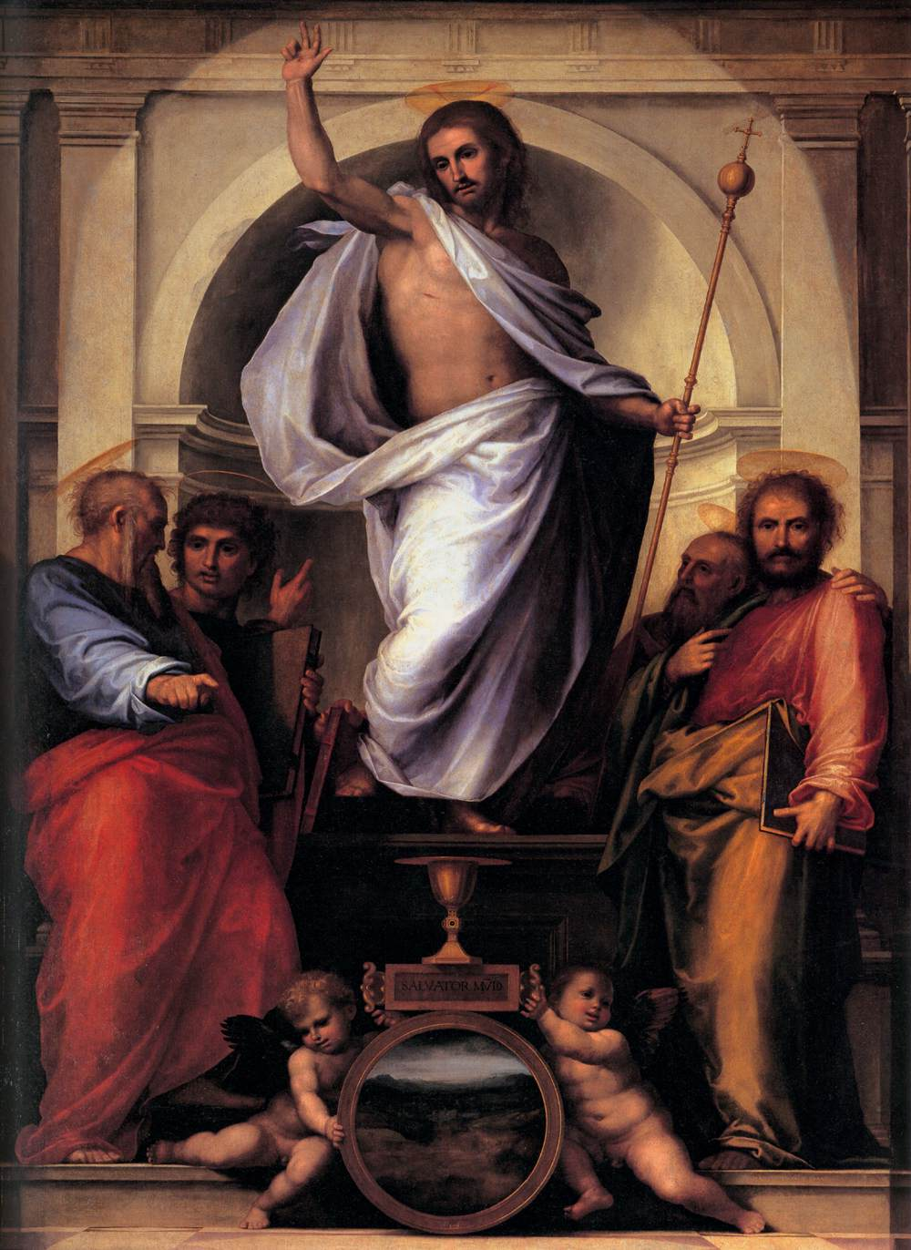 Christ with the Four Evangelists - Fra Bartolomeo