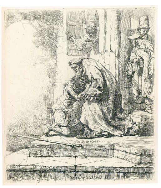 Rembrandt, The Return of the Prodigal Son, c. 1636 - Etching