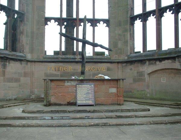 Coventry Cathedral, Burnt Cross