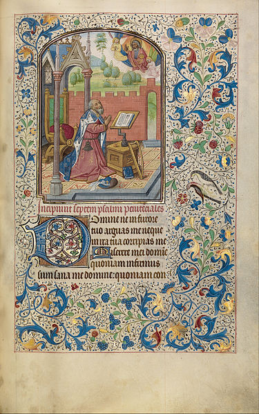 David in Prayer, Willem Vrelant, c. 1454-1481